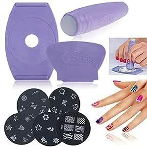 Salón de mensajero uñas de manicura Set DIY Impresora Diseñado Arte expreso del clavo que estampa el kit de la Mujer