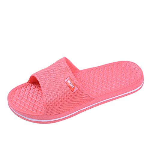 Jiyaru Women Anti-skidding Slipper Beach Pool Shoes Flip Flops Red US 7.5