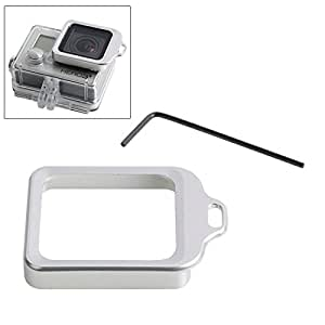 Lens Replacement Kit (Aluminum Lanyard Ring Mount & Screw Driver) for Gopro Hero 3+(Silver)