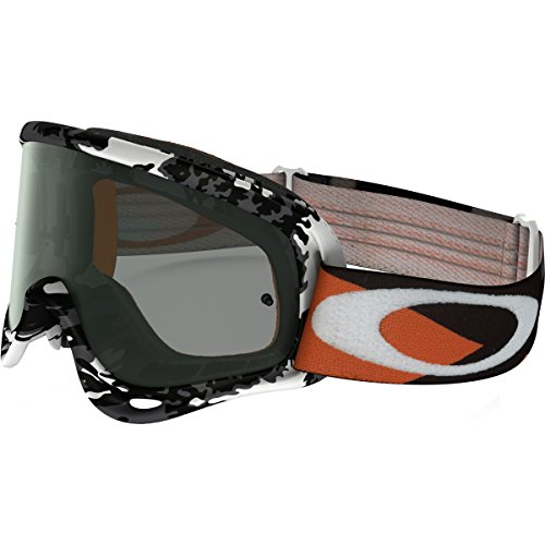 Oakley O-Frame MX Flight Series Falcons Men's Dirt Off-Road Motorcycle Goggles Eyewear - White/Dark Grey/One Size Fits All