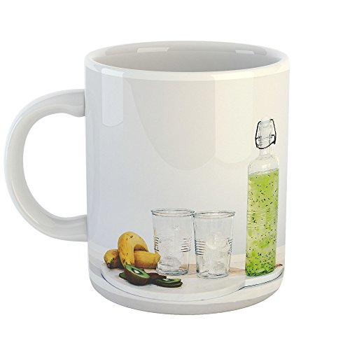 Westlake Art - Kiwi Glass - 15oz Coffee Cup Mug - Modern Picture Photography Artwork Home Office Birthday Gift - 15 (Kiwi Liqueur)