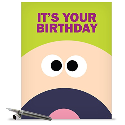 J1359 Jumbo Funny Birthday Card: Fk Yeah With Envelope (Extra Large Version: 8.5'' x 11'')