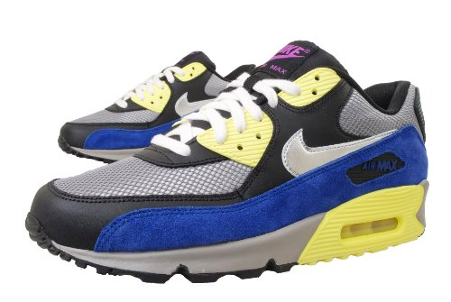 Women's Nike Air Max 90 - Medium Grey/Metallic Silver/Black/Yellow clearance clearance buy cheap footaction cheap order free shipping pay with paypal official cheap online s30v75QaMF