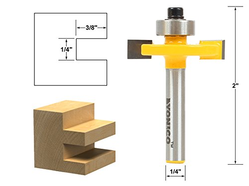 Yonico 14184q Slotting & Rabbeting Router Bit with 1/4'' Shank, 0.25''