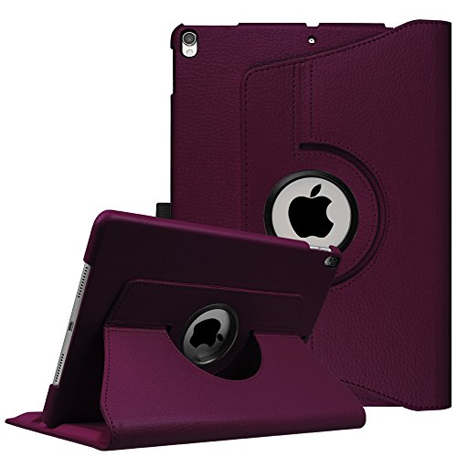 Fintie iPad Pro 10.5 Case - 360 Degree Rotating Stand Protective Cover with Auto Sleep/Wake Feature for Apple iPad Pro 10.5 Inch 2017 Tablet, Purple