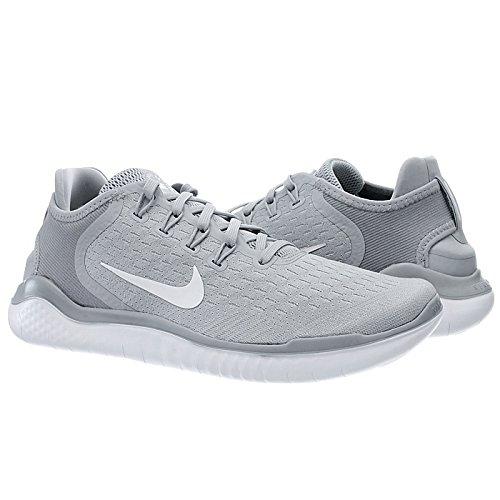 Nike Free RN 2018, Scarpe da Running Uomo Grigio (Wolf Grey/White/White/Volt 003)