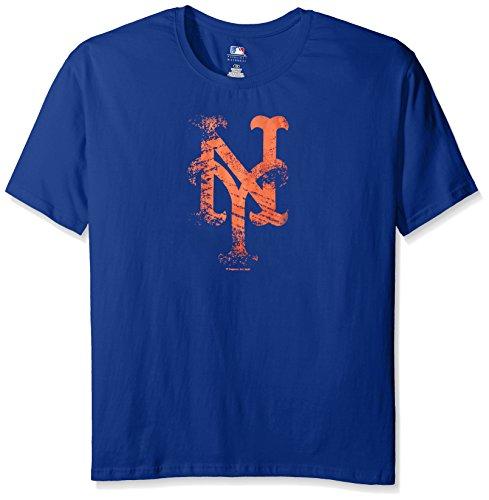 MLB New York Mets Women's Team Short Sleeved Screen T-Shirt, 2X, Royal – DiZiSports Store