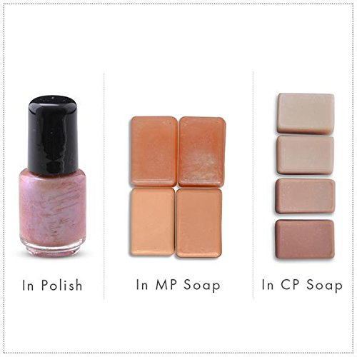 Winter Rose/Pink Luxury Mica Colorant Pigment Powder by H&B OILS CENTER Cosmetic Grade Glitter Eyeshadow Effects for Soap Candle Nail Polish 1 oz