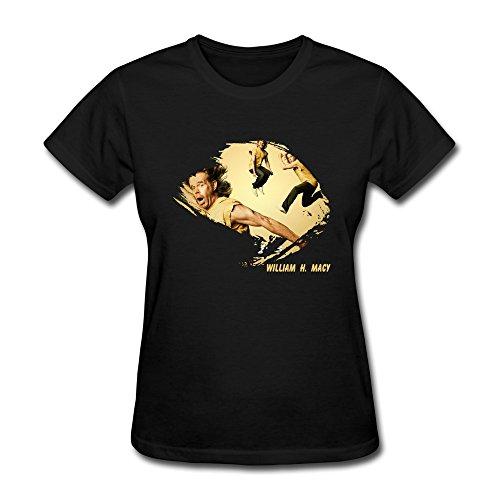 C-DIY Women's T Shirts Summer William H Macy Shameless XS Black