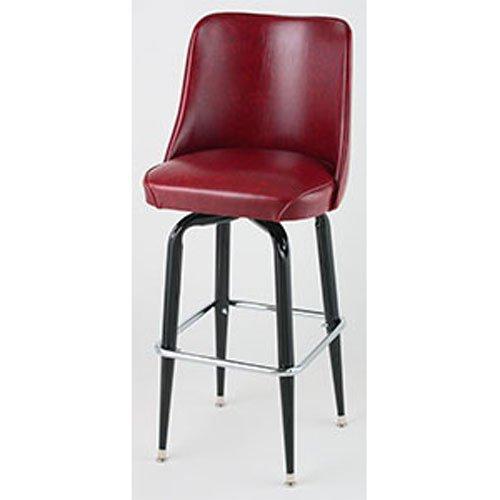 Price comparison product image Bucket Seat Bar Stool,  Black Square Frame,  (ROY 7714 CRM) 2 KD Crimson,  Royal Industries