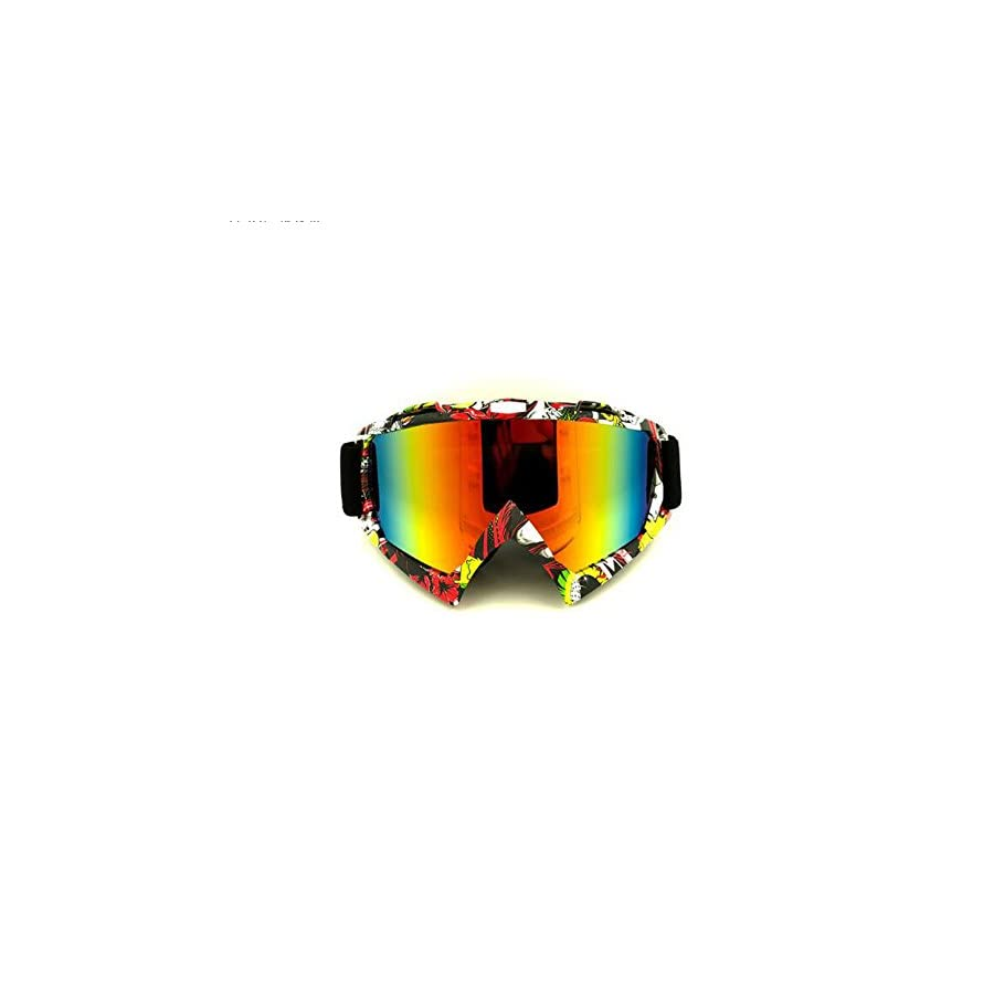 Ski Goggles, V Best Snow Skiing Snowboarding Goggles Glasses Unisex Motocross Snowmobile Snowboard Dust UV, Dust proof Scratch Resistant Windproof Goggles