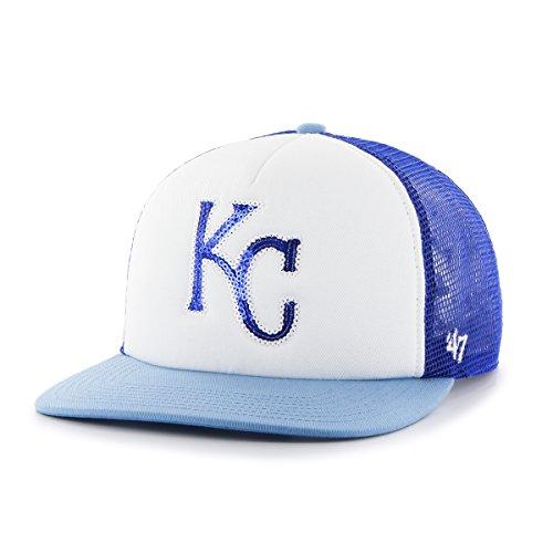 '47 MLB Kansas City Royals Glimmer Captain CF Hat, One Size, Royal (Kansas Hats Royals City)