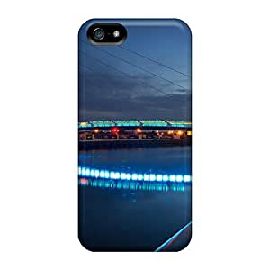 Wade-cases ORS2527GUPX Case For Ipod Touch 5 Cover With Nice Wonderful Modern Bridge In Lights Appearance