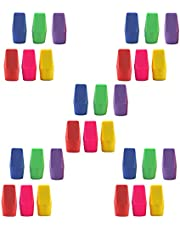Erasers Pencil Top Eraser Caps Chisel Shape Pencil Eraser Toppers Student Painting Correction Supplies Stationery