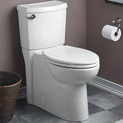 American Standard 2988101.020 Toilette Cadet 3 FloWise 2 pièces 1,28 GPF à une seule chasse, hauteur droite, avant rond, avec siphon dissimulé, blanc