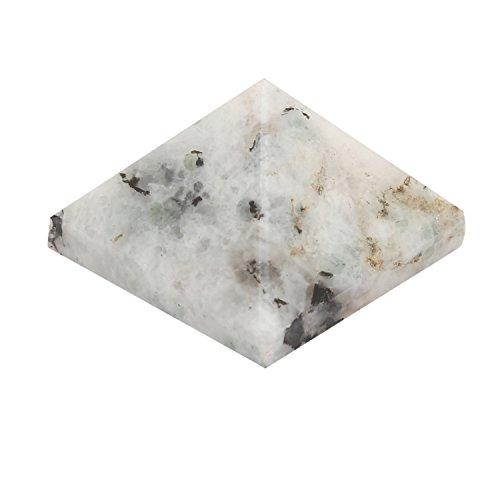 Aatm Reiki Moonstone (1inch) gemstone pyramid/EMF Protection Meditation Energy Generator