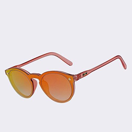 lentes red de gafas UV400 de para sol mirror reborde gafas redonda Hombre sin rojo las sol Figura espejo para TIANLIANG04 de mujer Mujer espejo BwvAztq