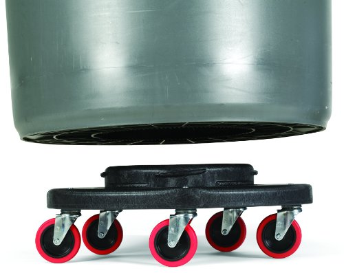 Rubbermaid Commercial FG264043 HDPE Brute Quiet Dolly for Container, 250 lbs Capacity, 18.25'' Diameter x 6.63'' Height, Black by Rubbermaid Commercial Products (Image #2)