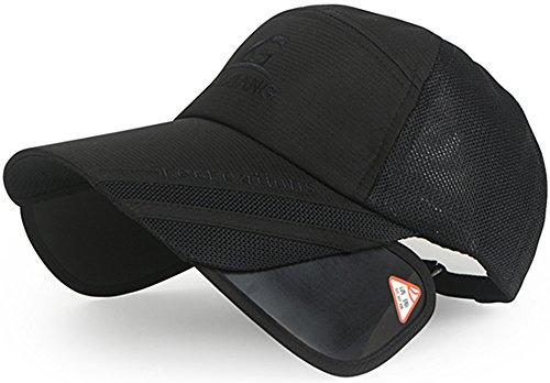 農学オーナー弁護士(ラクエスト) Laquest 帽子 引出 遮光 バイザー つば長 ムレ 防止 メッシュ キャップ ゴルフ アウトドア 男女
