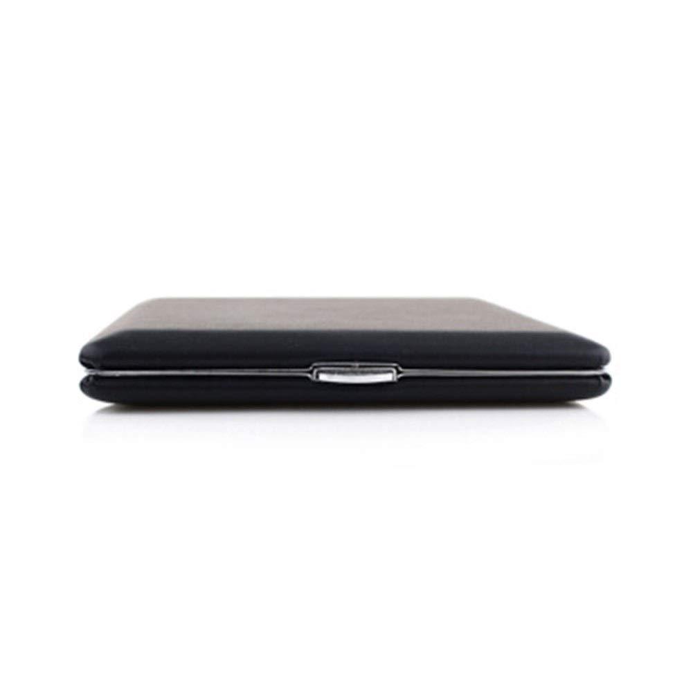 Cigarette Case, Single-Sided Leather Case, 10 Pieces, Black Glossy, Cigarette Holder (Color : Black)