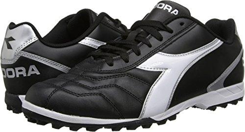 Diadora Men's Capitano LT Turf-M, Black/White, 9.5 M US (Diadora Soccer Cleats Turf)