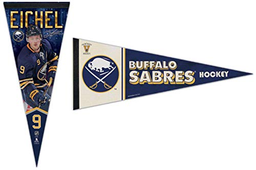 WinCraft Bundle 2 Items: NHL Buffalo Sabres 2 Premium Pennants 1 Jack Eichel and 1 Vintage Retro