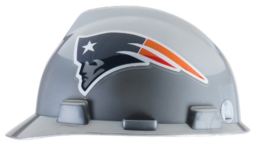 Construction Hard Hats With Logo (Safety Works NFL Hard Hat, New England)