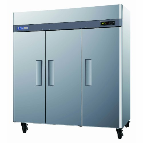 M3R723 72 cu. ft. Capacity M3 Series Refrigerator with 3 Solid Doors Digital Temperature Control System Hot Gas Condensate System Efficient Refrigeration System and Stainless Steel Cabinet Construction in Stainless Steel by Turbo Air