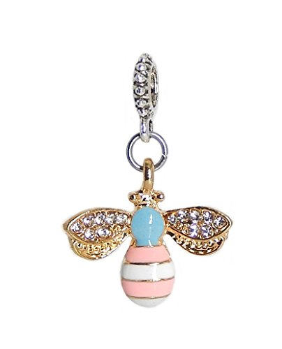 Disney Crystal Bracelet - J&M Dangle Bee with Crystals Charm Bead for Charms Bracelets