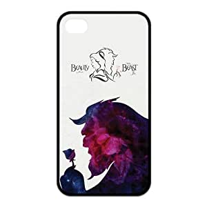the Case Shop- Customizable Beauty and The Beast Rose Quotes iPhone 4 and iPhone 4S TPU Rubber Hard Back Case Cover Skin , i4xq-274