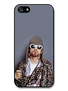 AMAF ? Accessories Kurt Cobain Wearing Glasses Portrait case for iPhone 5 5S