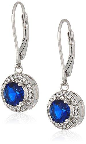 Blue Cubic Zirconia Earrings - 9