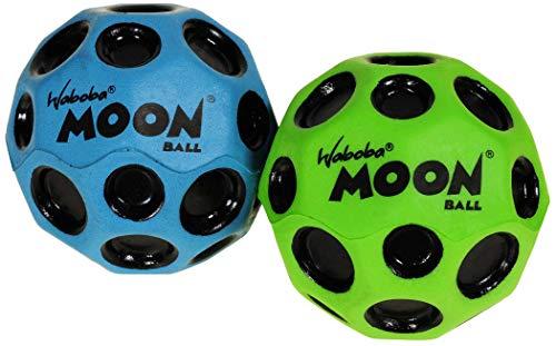 Waboba Moon Balls, Bundle of 2, 1 Blue & 1 Green, with Bonus Orange Mesh Drawstring Pouch || Bundled Items by Waboba (Image #4)