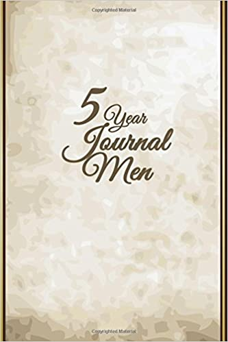 5 Year Journal Men: 5 Years Of Memories, Blank Date No Month, 6 x 9, 365 Lined Pages