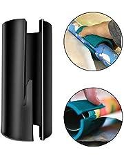 Plastico transparente etiquetadora Resistente y duradero papel de la Navidad del corte del papel del cilindro cortador de la herramienta de corte del papel de embalaje (Negro) cinchas de amarre