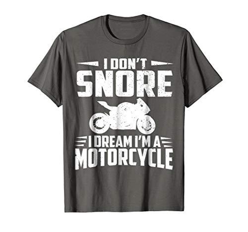 Biker Tshirts For Men Women I DREAM IM A MOTORCYCLE Gifts
