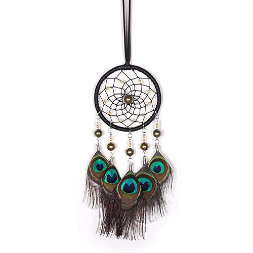 BBB&LIU Flying Wind Chimes Lace Dream Catcher Feather Bead Hanging Decoration Pendant Creative Ornament Gift Handmade Gifts,Multi-Colored