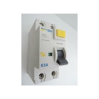 Interrupteur differentiel 63A 2P 300mA type AC bornes vis norme CE ALTERNATIVE  ELEC AE28263 c52fec0d3d17
