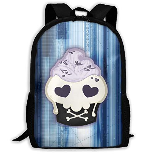 Skull Cupcake For Delicious Holiday Backpack Women 3D Print Daypacks For Men]()