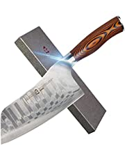 "TUO Cutlery - Kiritsuke Chef's Knife - Germany Stainless Steel - Kitchen Knife with Erqonomic Handle (Fiery 8.5"" Kiritsuke Knife)"