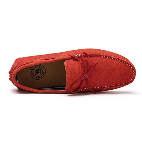 Cammello Uomo Guida Mocassino Scarpa Casa Colore Rosso Taglia 41 M Eu