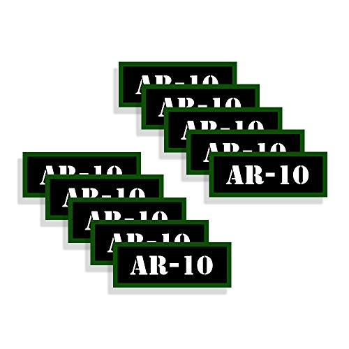 Speed Demon Hot Rod Shop Ammo Can Labels AR-10 Ammunition Decals for AR-10 Ammo - 10 Pack Adhesive Vinyl 3