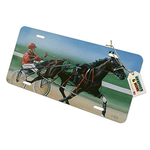 Graphics and More Harness Racing Horse Sulky Trotter Novelty Metal Vanity Tag License Plate