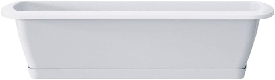 Erhard-Trading Alzira Flower Box Set with Saucer 40 cm White