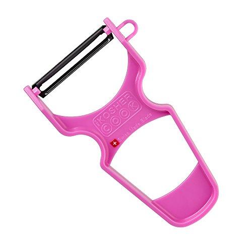 Pink Vegetable Peeler - Pink Y Vegetable Peeler - Heavy Duty, Ultra Sharp Carbon Steel Swiss Blade, Ergonomic Plastic Handle - Color Coded Kitchen Tools by The Kosher Cook