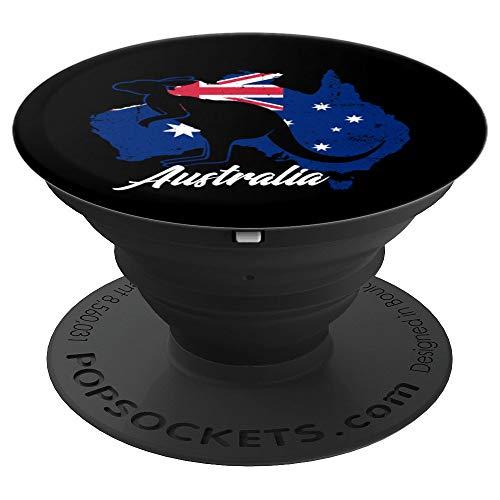 Australian Kangaroo design Australia Flag Souvenir Gift Idea PopSockets Grip and Stand for Phones and Tablets (Best Australian Souvenir Ideas)