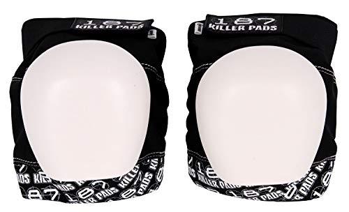 - 187 Killer Pads Unisex Pro Knee Pads PKLA199, Black/White, L