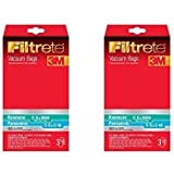 Kenmore C (50558) & Panasonic C-5 Micro Allergen Bag, 3M Filtrete (2 packs of 3 Bags = 6 Bags)