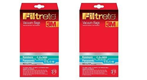 Filtrete Kenmore C (50558) compatible with Panasonic C-5 Micro Allergen Bag 3M Filtrete