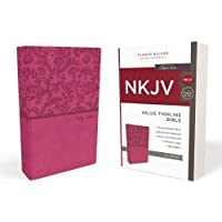 NKJV, Value Thinline Bible, Standard Print, Imitation Leather, Pink, Red Letter Edition